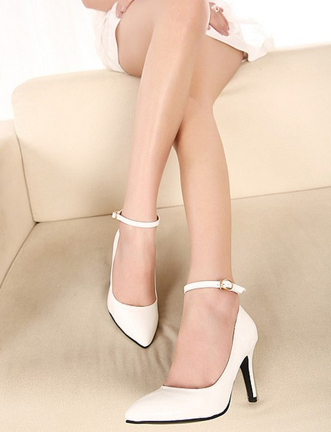 Mariage - Korean Style Cusp Thin Heel Shoes Pump Apricot PM0018