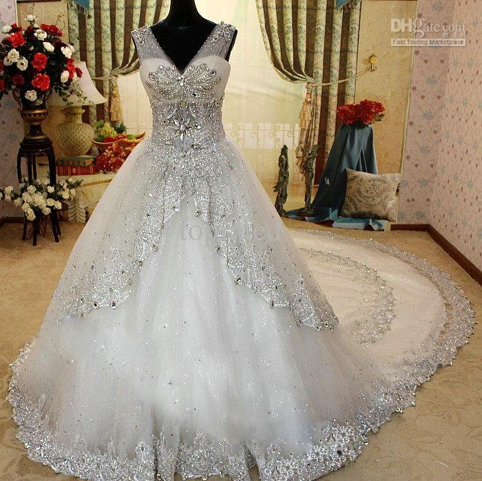 Dress wedding dresses from 2013 2015 2102428 weddbook for Plus size bling wedding dresses