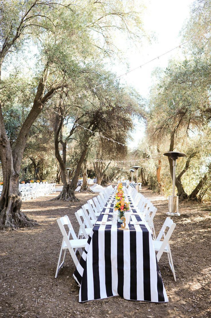 Wedding - Black And White Stripe Weddings