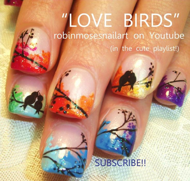 Ногти птички
