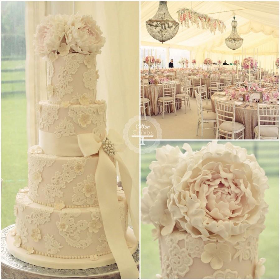 Fuschia Pink Wedding Cake