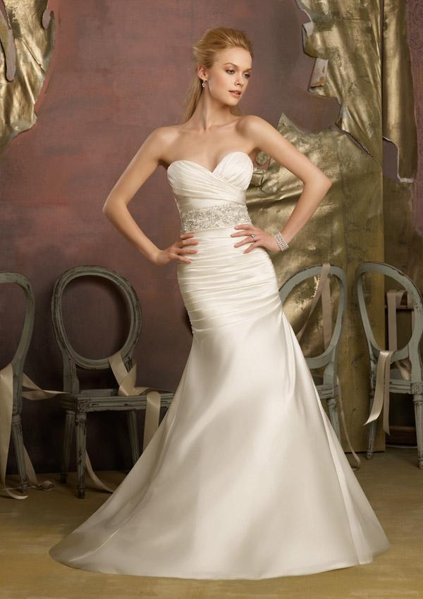 زفاف - Crystal Beaded Duchess Satin Wedding Dresses(HM0271)