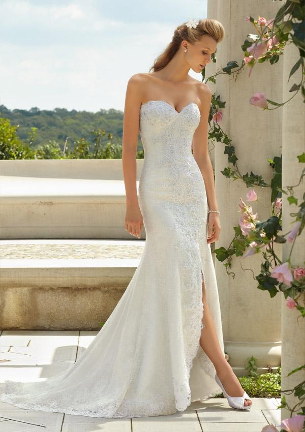 Mariage - Embroidered Lace On Tulle Wedding Dresses(HM0265)