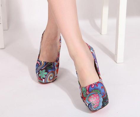 Wedding - Elegant Style Cusp Toe Thin Heels Simple Pumps Blue PM0300