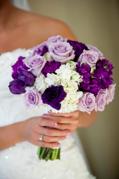 Purple Wedding Bouquets In Purple 2107634 Weddbook