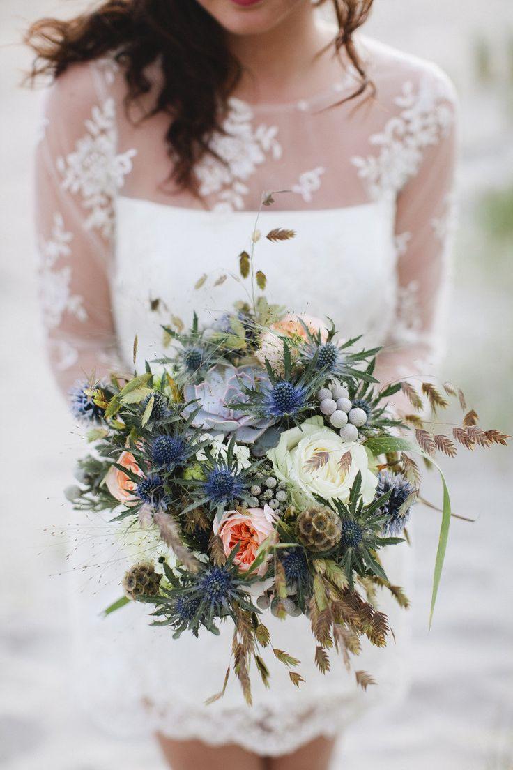 Hochzeit - Bouquets In Blue