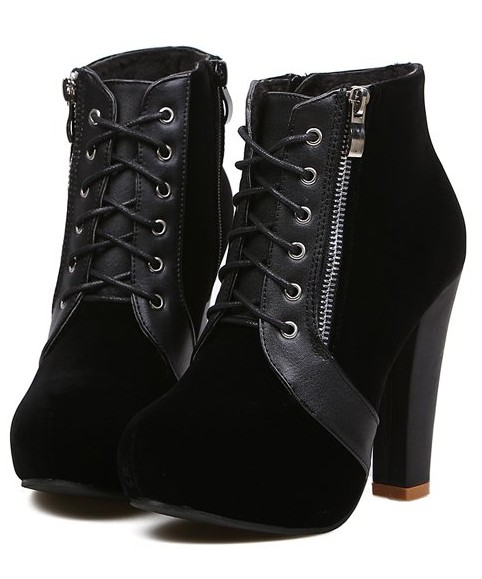 Свадьба - Fashion Style Button Embellished High Heels Shoes Pump Black BT0667