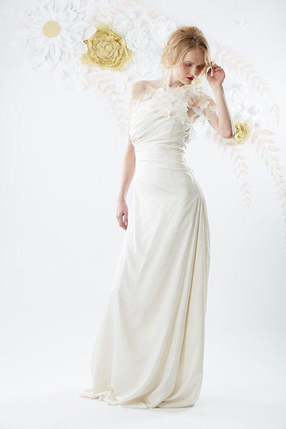 زفاف - حزام الكتف واحد فستان زفاف إلهام
