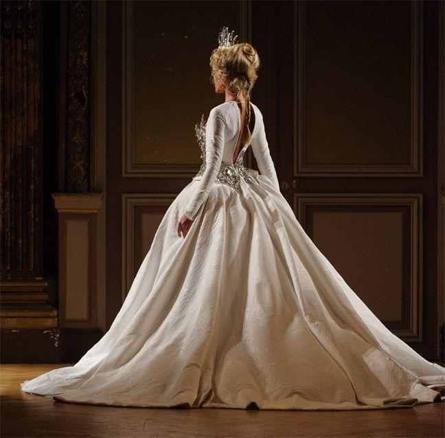 زفاف - بأكمام طويلة و3/4 طول كم ثوب الزفاف الإلهام