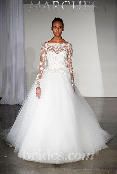 Long Sleeved 3 4 Length Sleeve Wedding Gown Inspiration 2111542 Wedd