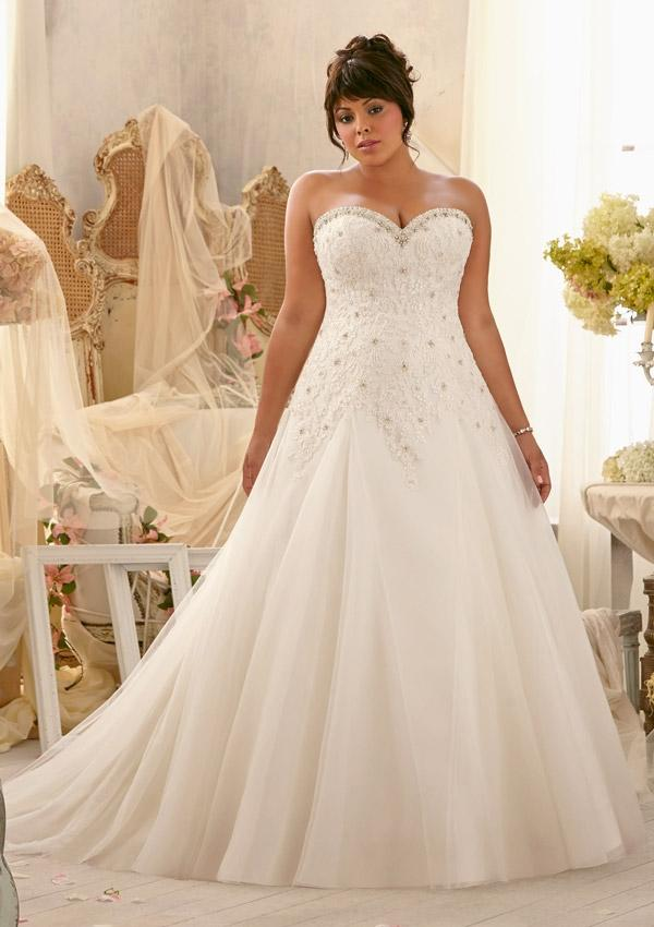 Wedding - Wanweier - wedding dresses shops, Hot Alencon Lace Appliques on Tulle with Crystal Beaded Trim Online Sales in 58weddingdress