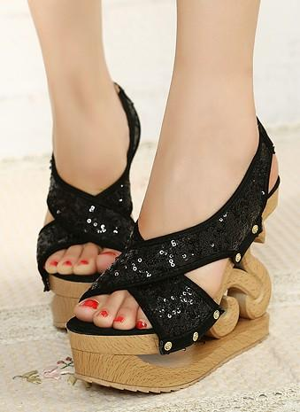 Boda - Sweet Style Flat Low Heels Sandals Shoes Yellow Yellow SD0504