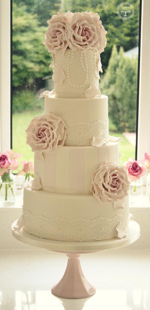 Rose Wedding - Antique Rose Wedding Cake #2112672 - Weddbook