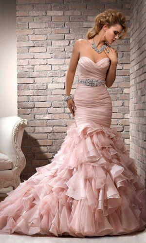 Mariage - Robes ..... pastel Roses