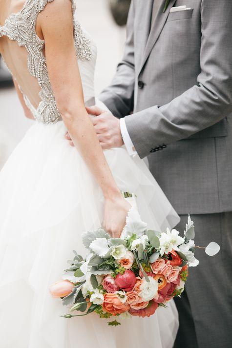 Wedding - Romantic bridal bouquet for grooms