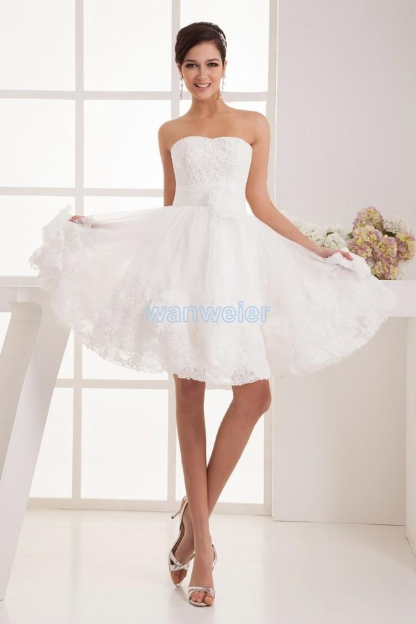 Find Your Knee-length Sheath Sweetheart White Lace Prom Dress With ...