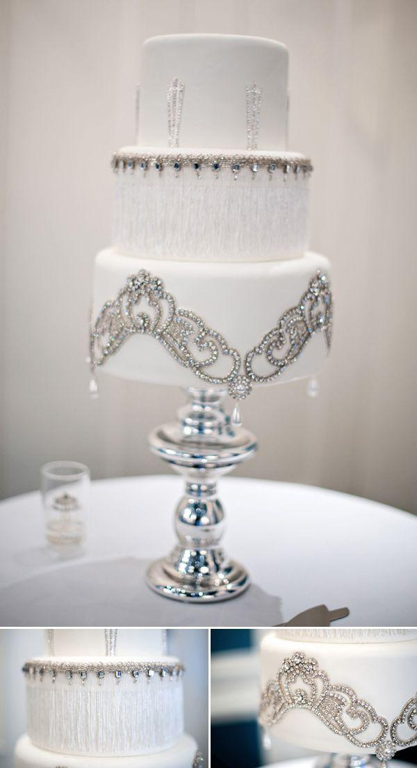 Wedding - White & Gold Wedding Cakes
