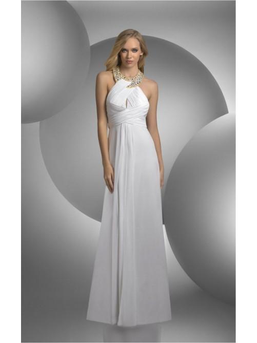 زفاف - Attractive White Sheath Floor-length Jewel Dress