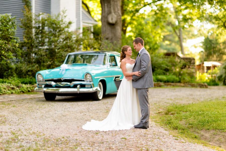 Wedding - Couple In Front Of Classic Car