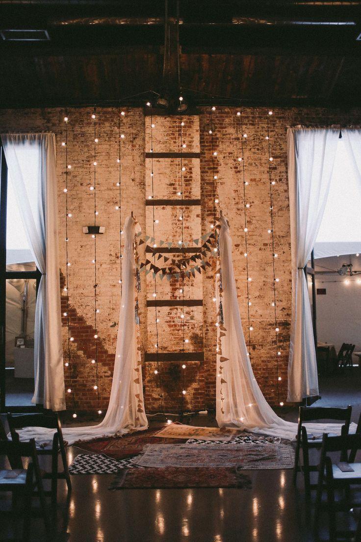 wedding backdropalter decor alter lighting