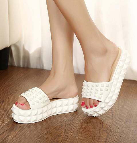 Свадьба - Korean Style Thick Heels Sandals Shoes Light Blue Blue SP0043