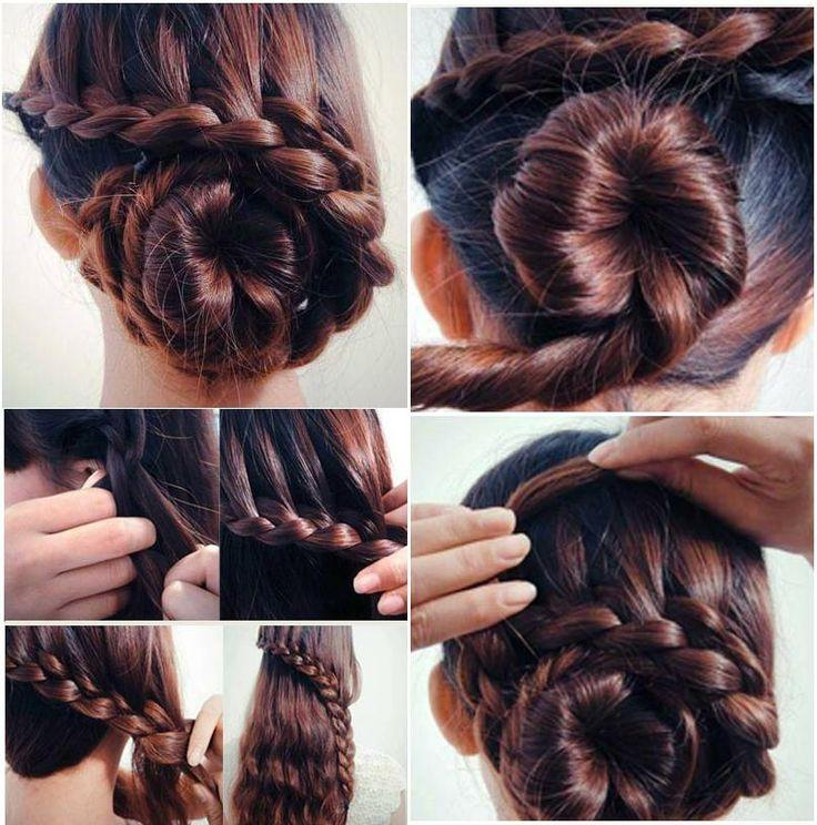 Свадьба - Making Braid with half hair bun