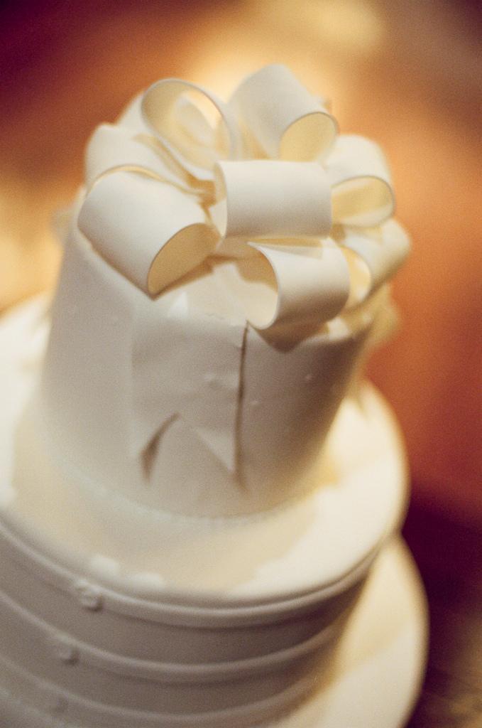 wedding gratuitous wedding cake shot on film natch