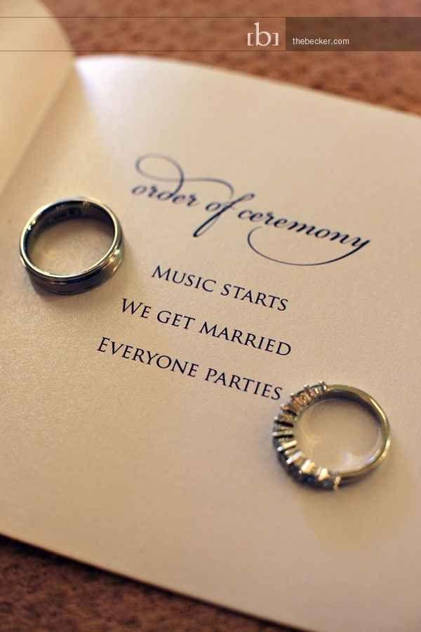 Mariage - Avec cet anneau ...