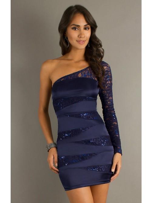Свадьба - Short One Sleeve Cocktail Dress