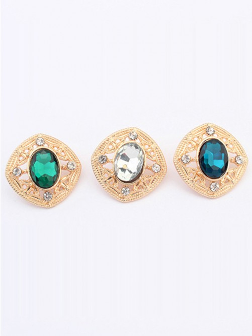Wedding - Occident Stylish Temperament Gemstone all-match Stud Earrings