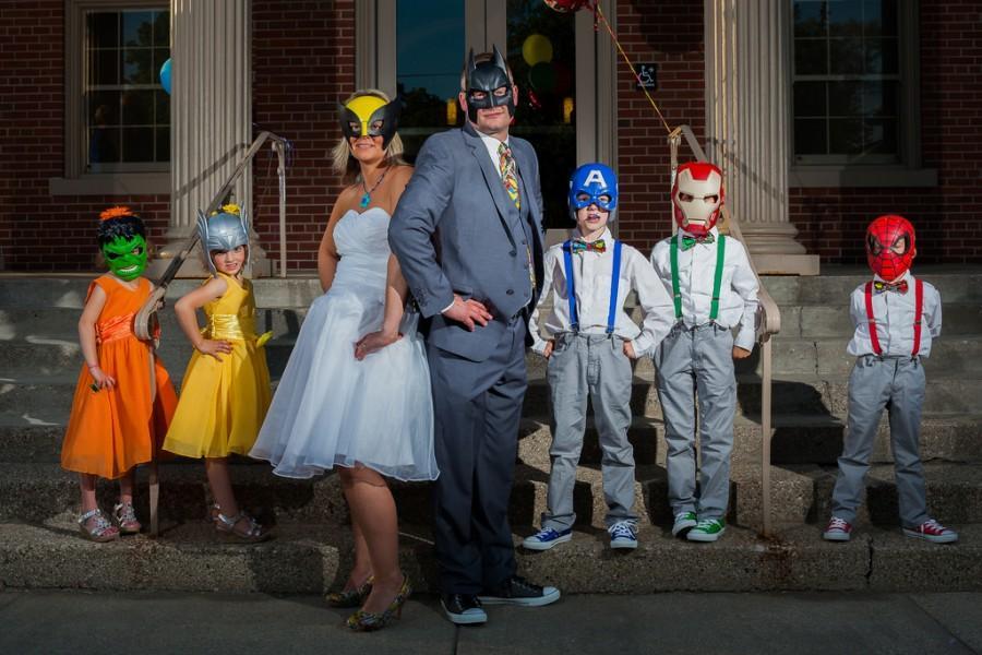 Wedding - Superhero Family