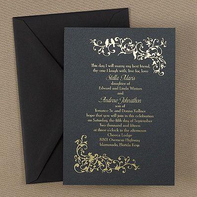 Wedding - Invitation Paper Gold
