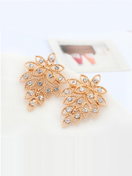 Wedding - Occident Stylish Retro Exquisite Tree leaf Stud Earrings