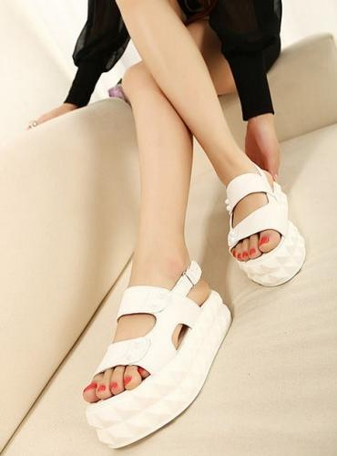 Wedding - Bohemian Style Wedge Sandals Shoes Brown Brown SD0271