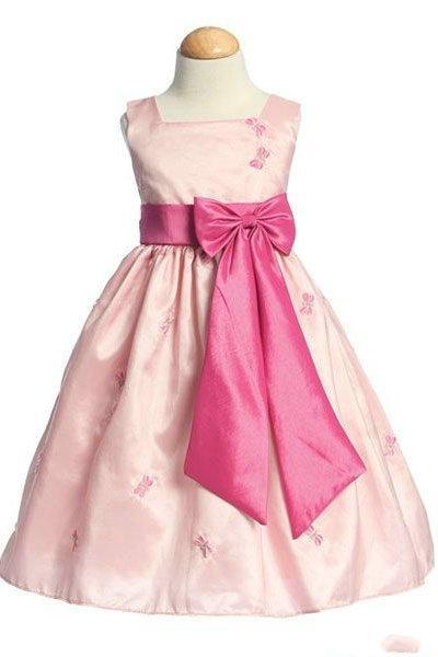 Wedding - Square A Line Sash Applique Wholesale Formal Girls Dresses 2012, Flower Girl Dresses - 58weddingdress.com