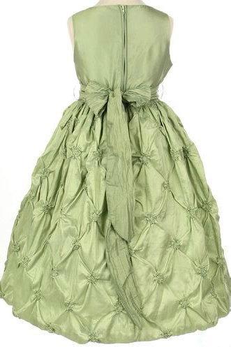 Wedding - Satin Common Ruffles Sash Ball Gown Designer Perfcet Girls Formal Dress, Flower Girl Dresses - 58weddingdress.com