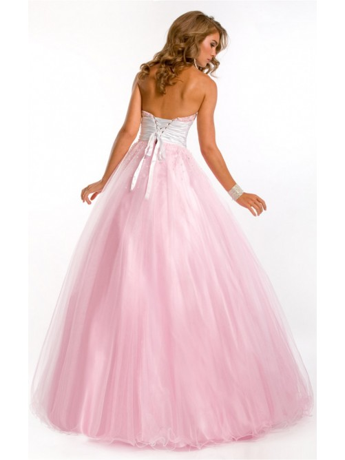 Wedding - Pink Classical Princess Floor-length Sweetheart Dress