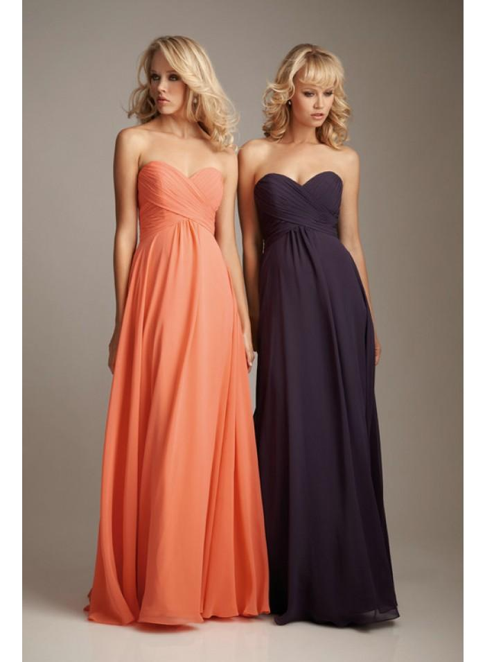Wedding - A-line/Sheath Sweetheart Sleeveless Ruching Empire Floor-length Chiffon Celebrity Dresses WE0967
