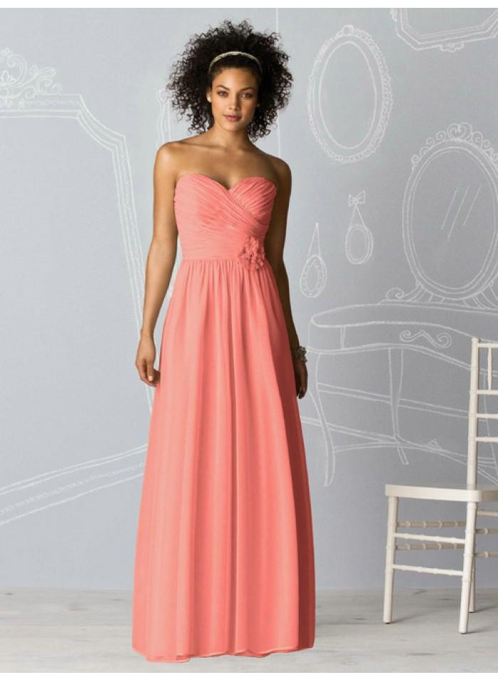 Wedding - A-line Sweetheart Sleeveless Ruching/Flower Empire Floor-length Chiffon Celebrity Dresses WE0965