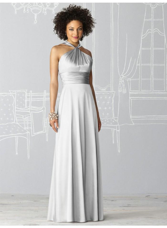 Hochzeit - Sheath Halter Sleeveless Ruching Empire Floor-length Satin Celebrity Dresses WE0961