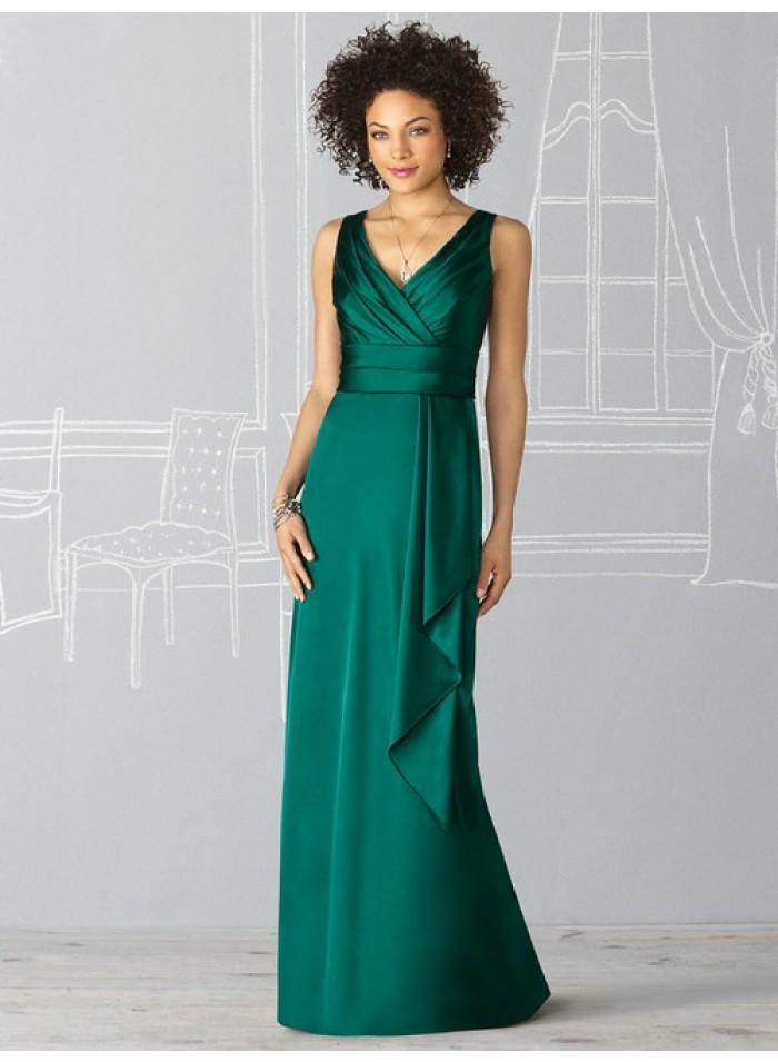 Wedding - Sheath Straps Sleeveless Ruching/Draping Empire Floor-length Elastic Celebrity Dresses WE0960