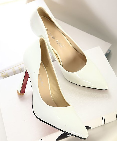 Wedding - Hot Sale Style Color Block Thin Heels High Heel Pumps Black Black PM0249