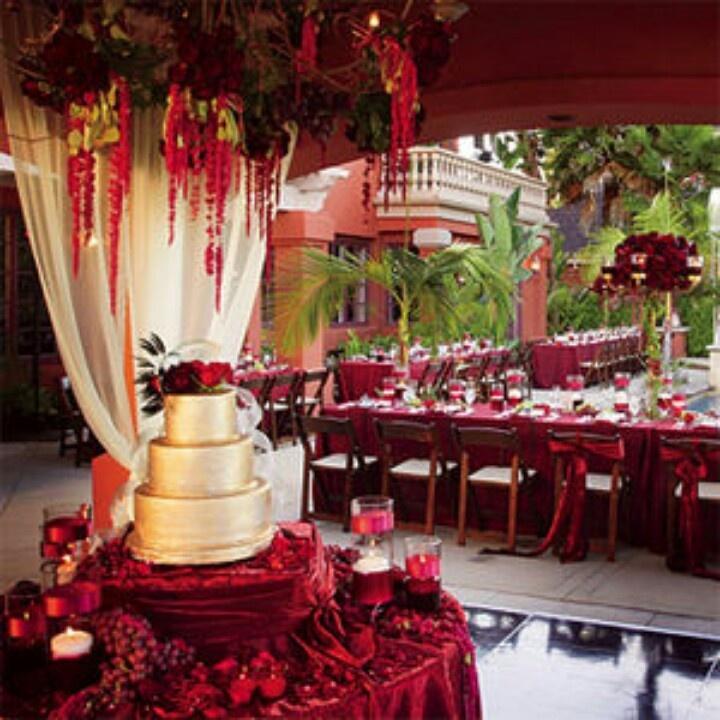 Red Wedding Ideas Reception: Weddings-Cake Table #2124125