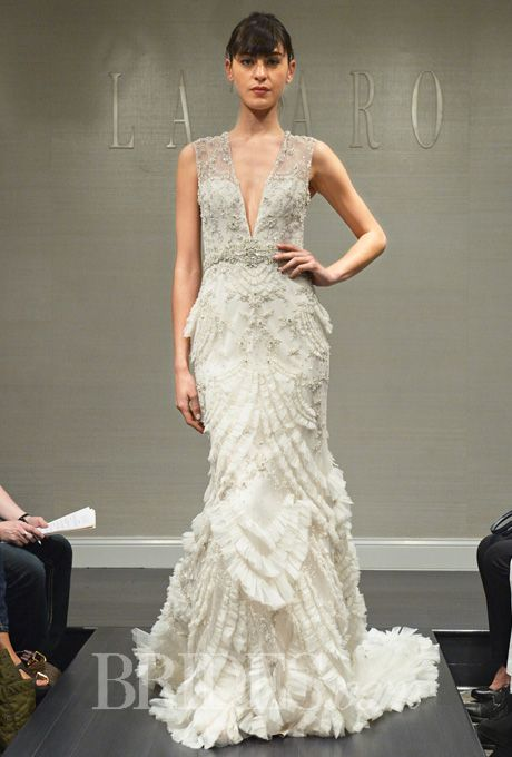 Lazaro Wedding Dresses Fall 2014 Bridal Runway Shows Brides.com ...