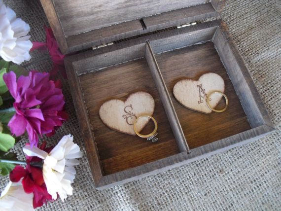 Hochzeits Ring Box Rustikal Unique Ring Inhaberaktien Kissen