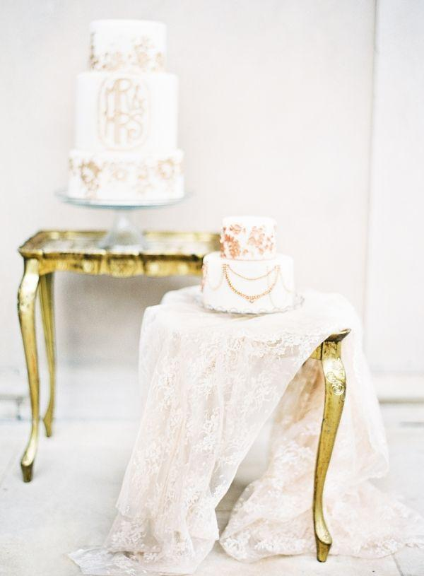 زفاف - كعك الزفاف مع الذهب ليف