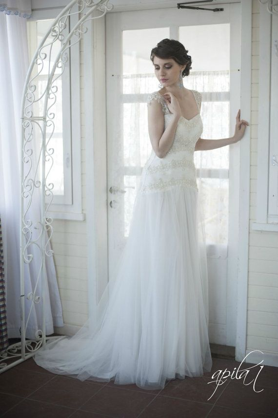 Prinzessin Stil Lange Hochzeits-Kleid, Langes Tüll Und Spitze ...