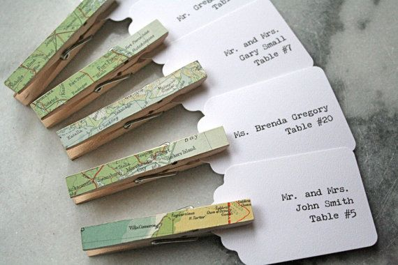 wedding-escort-card-seating-card-place-card-unique-vintage-map ...