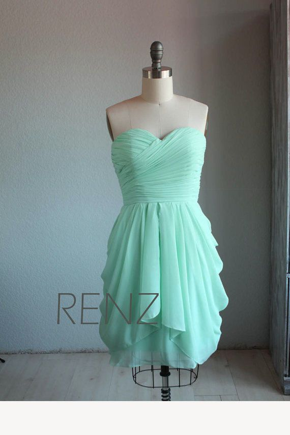 Brautjungfernkleid HochzeitskleidChiffon MINT HochzeitskleidChiffon Blau Blau MINT Brautjungfernkleid KleidMint KleidMint NkX0OPw8n