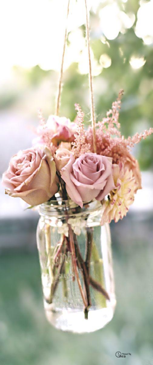 Hochzeit - Hochzeiten - Weinlese-Rosa-Affäre